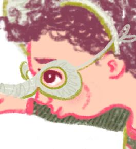 Elephant Dress Up Box Illustration Detail Crop