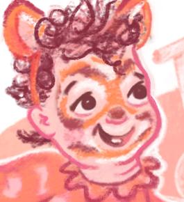 Lion Dress Up Box Illustration Detail Crop