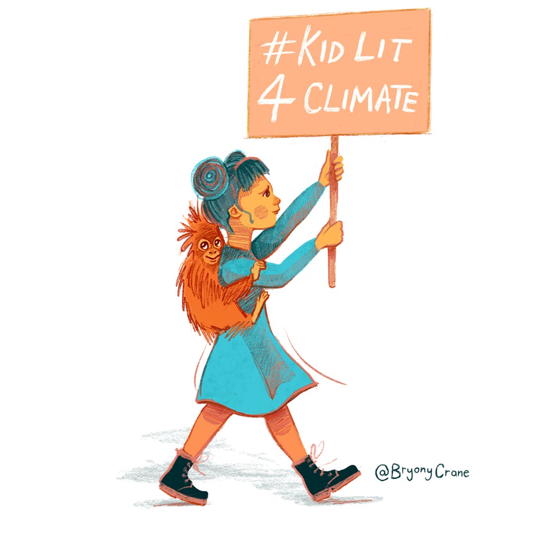 KidLit4Climate Climate March Character Illustration