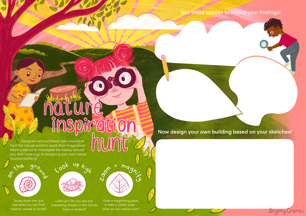 Nature Inspiration Hunt Sample Childrens Activity Page