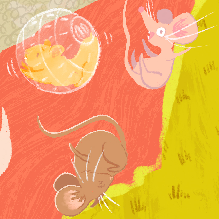 Brave Little Tailor Folktale Illustration Detail Crop