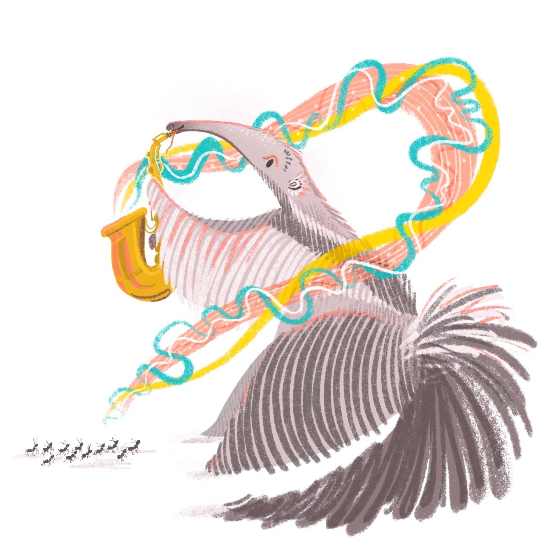 Rainbow Peacock Bird Illustration